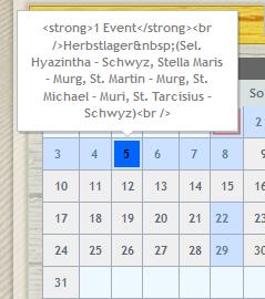 Joomlaeventmanager net - AJAX-Calendar Masks HTML-Tags in